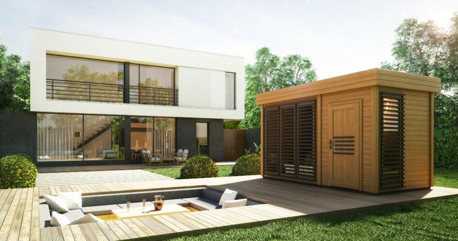 sauna  zewnętrzna azalia